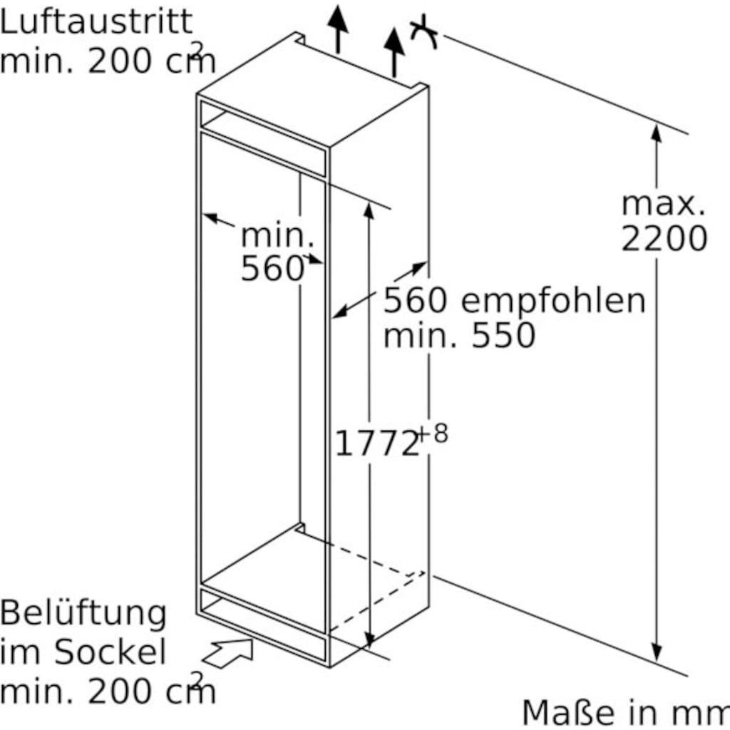 BOSCH Einbaugefrierschrank »GIN81ACF0«, 6, 177,2 cm hoch, 55,8 cm breit