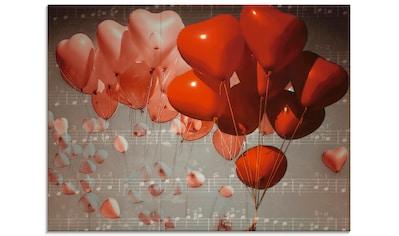 Artland Glasbild »Rote Herzen«, Herzen, (1 St.) kaufen