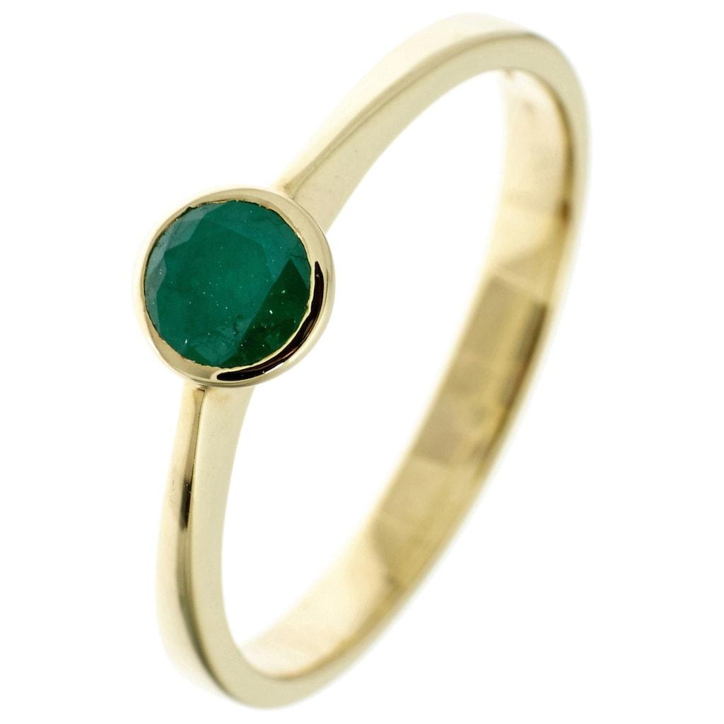 JOBO Goldring, 333 Gold mit Smaragd