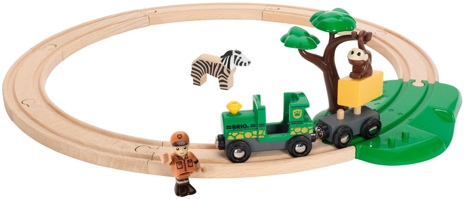 BRIO Spielzeug-Eisenbahn WORLD Safari Bahn Set, FSC-Holz aus gewissenhaft bewirtschafteten Wäldern beige Kinder Kindereisenbahnen Autos, Eisenbahn Modellbau