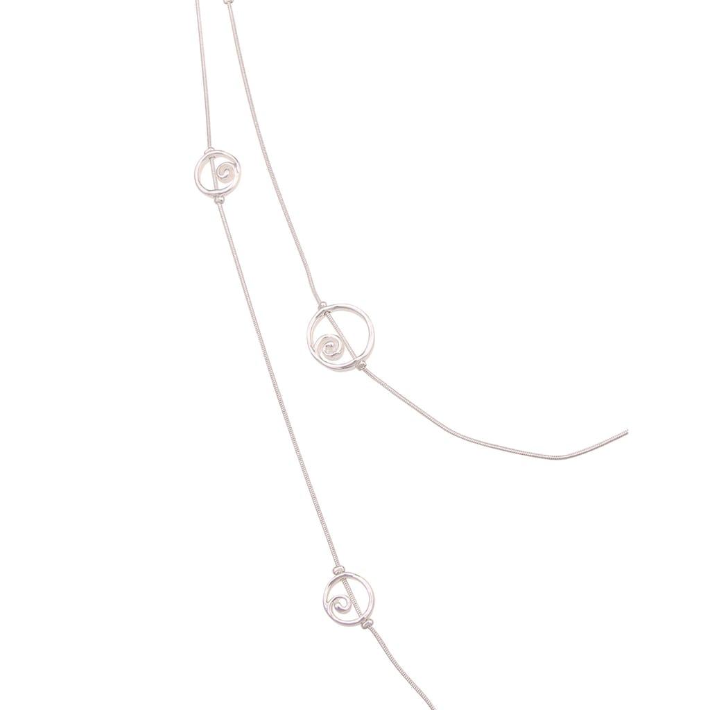 leslii Lange Kette »Spiral Look«, mit glänzenden Ringen