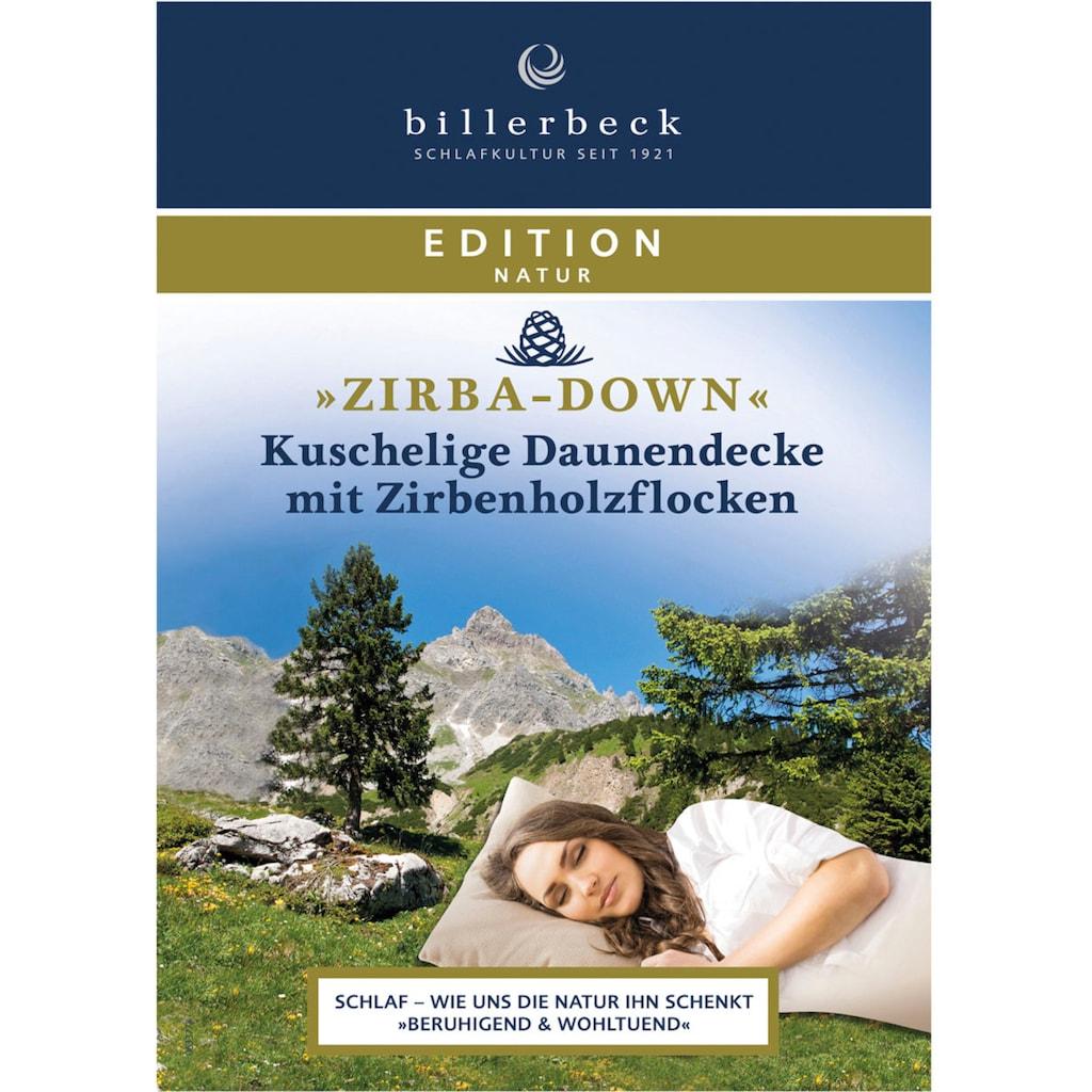 billerbeck Daunenbettdecke »ZIRBA Down«, warm, Füllung 90% Daunen, 10% Federn, Bezug Baumwolle, (1 St.), natürliche Schlafgenuss mit Zirbenholzflocken