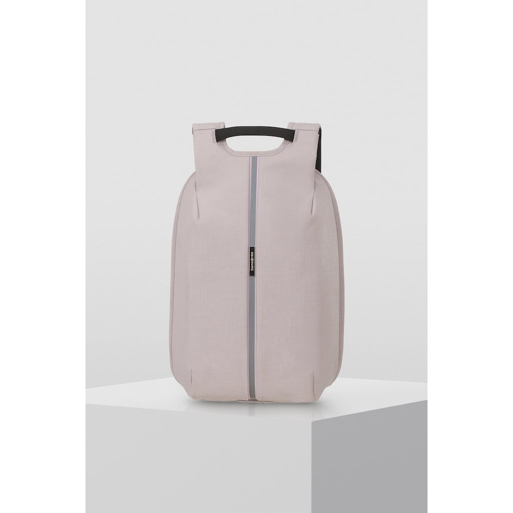 Samsonite Laptoprucksack »Securipak S, stone grey«, Reflektoren