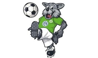 Wall-Art Wandtattoo »Fußball VfL Wolfsburg Wölfi« kaufen