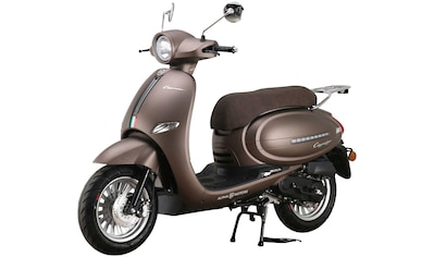 Alpha Motors Motorroller »Cappucino«, 50 cm³, 45 km/h, Euro 5, 3 PS, mattbraun kaufen