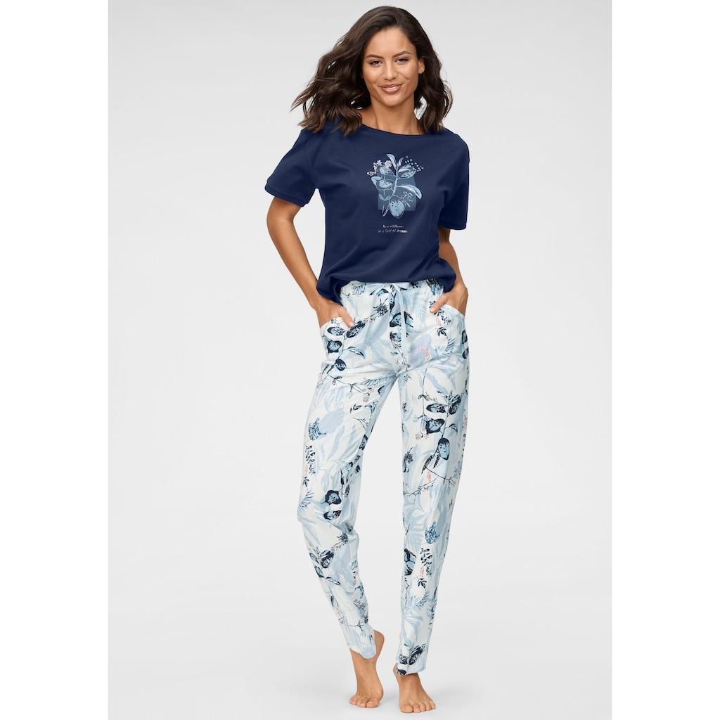 Triumph Pyjama, mit Blätterdruck
