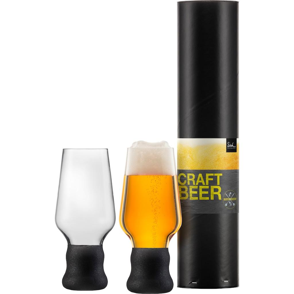 Eisch Bierglas »Craft Beer Becher«, (Set, 2 tlg.), bleifrei, 450 ml, 2-teilig