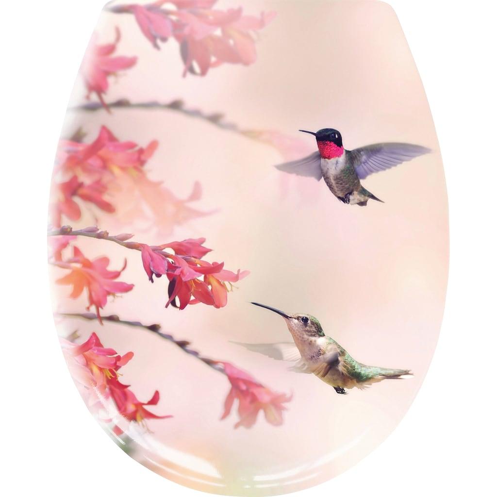 Kleine Wolke WC-Sitz »Kolibri«, Eleganter WC-Sitz aus Duroplast