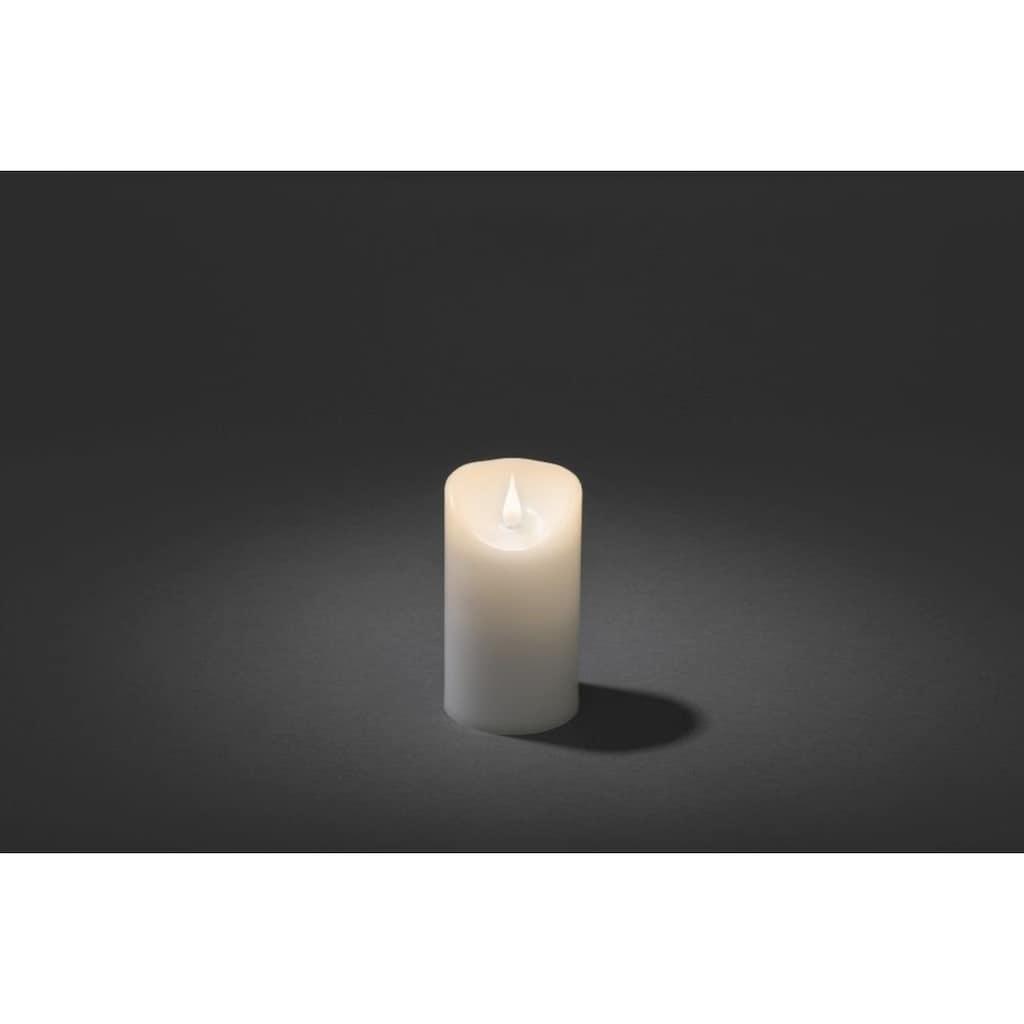 KONSTSMIDE LED Echtwachskerze mit 3D Flamme