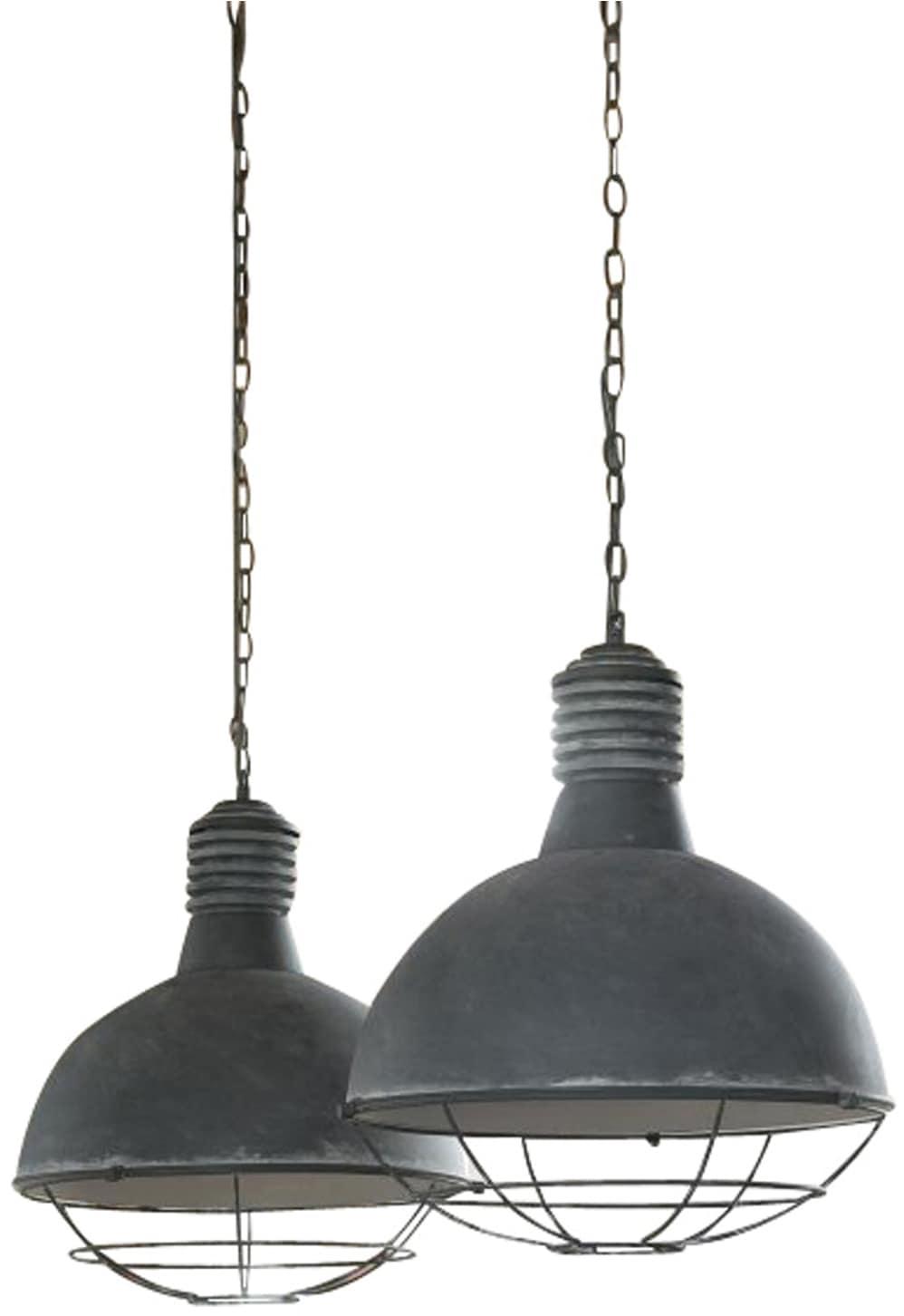 SalesFever Hängeleuchte Anton, E27, Runde Lampenschirme mit Gitter Design