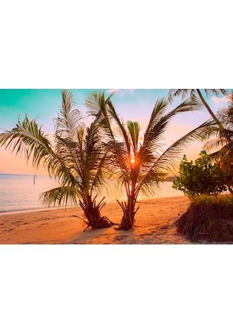 Papermoon Fototapete »Tropischer Sonnenuntergangsstrand«, Vliestapete, hochwertiger... kaufen