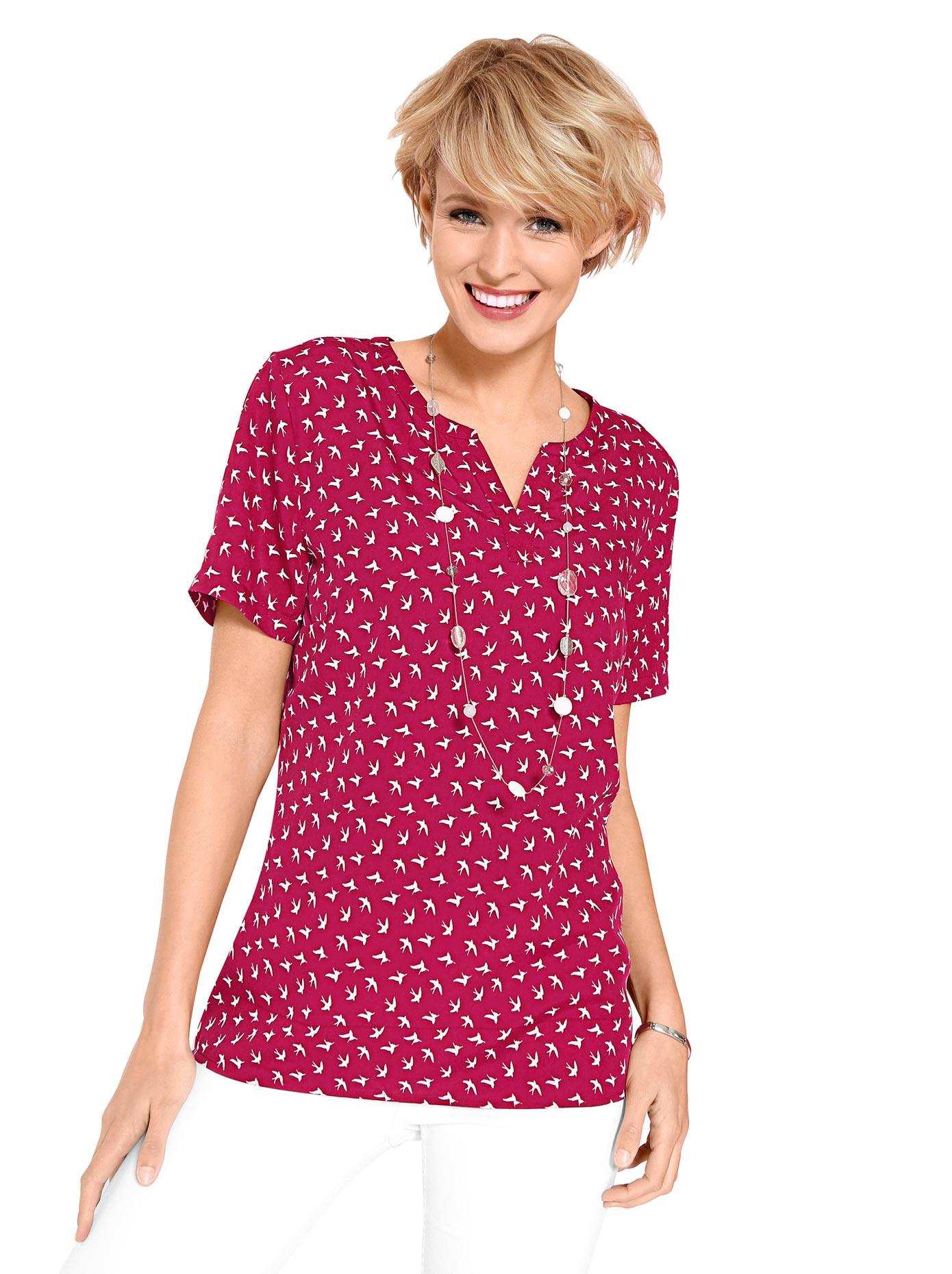 Classic Basics Bluse im hübschen Druckmuster