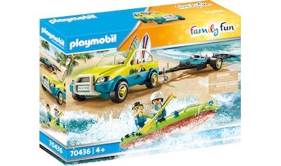 Playmobil® Konstruktions-Spielset »Strandauto mit Kanuanhänger (70436), Family Fun«, ; Made in Germany kaufen