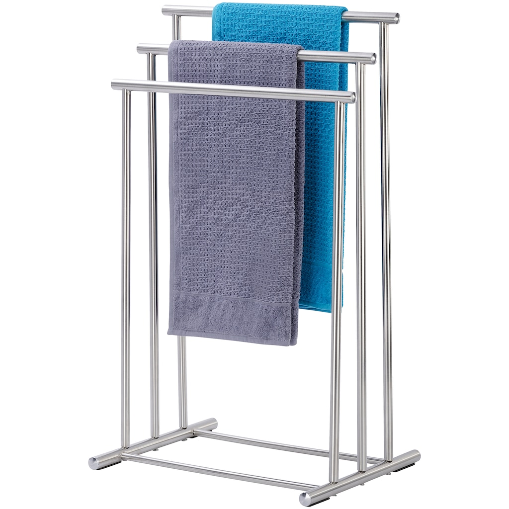 WENKO Handtuchständer »Lioni«, Drei Stangen in stufenförmiger Anordnung bieten viel Platz für Handtücher oder Kleidungsstücke