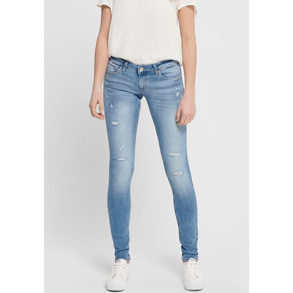Only Skinny-fit-Jeans »ONLCORAL«, mit Destroyed-Effekten
