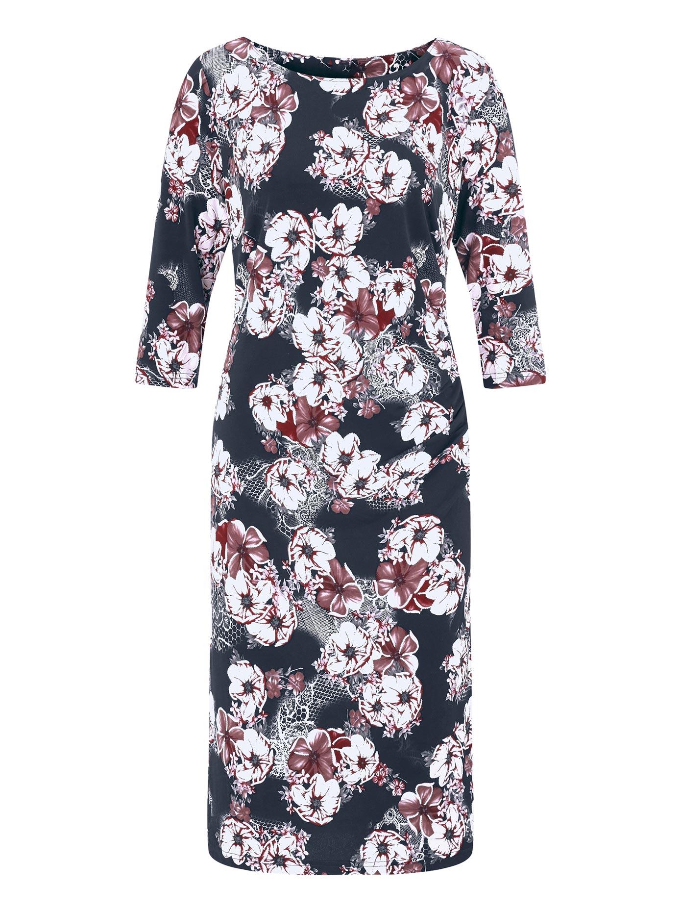 Lady Jersey-Kleid mit großen Blüten