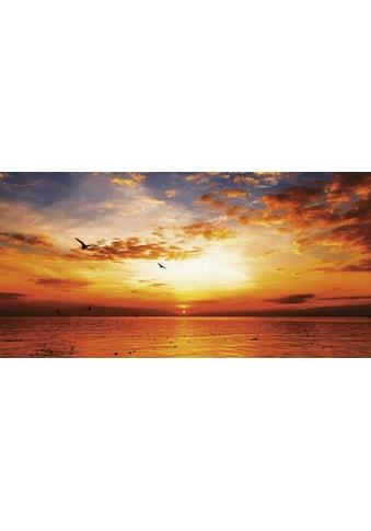 Home affaire Leinwandbild »Songchai W: Sonnenuntergang am Strand mit Himmel« kaufen