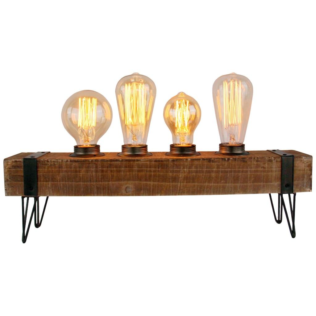 Brilliant Leuchten Woodhill Tischleuchte 4flg antik/schwarz