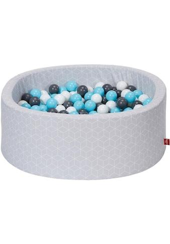 "Knorrtoys® Bällebad ""Geo, cube grey"" kaufen"