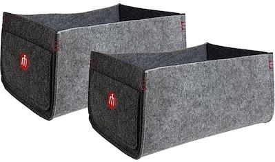 Franz Müller Flechtwaren Aufbewahrungsbox »Filzwerk« (Set, 2 Stück) kaufen