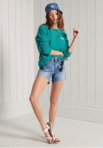 Superdry Sweatshirt »COLLECTIVE CREW«, mit dezenter Logostickerei kaufen