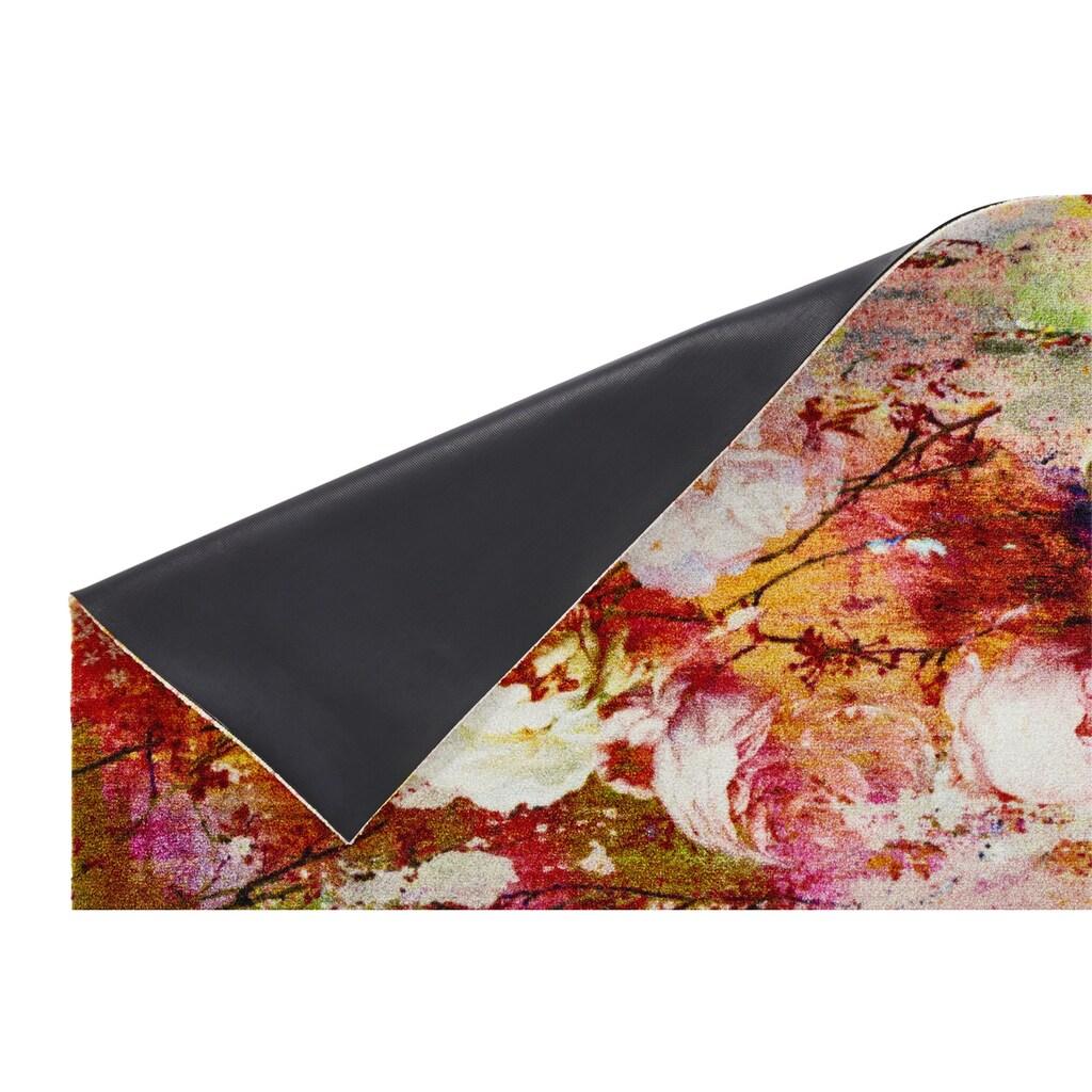 Fußmatte LOVING ROSE randlos ohne Gummirand, waschbar