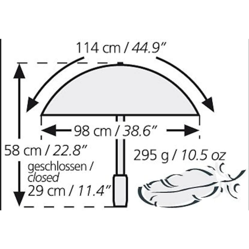 Euroschirm Taschenregenschirm »light trek automatic«, mit integriertem Kompass