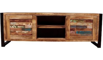 SIT Lowboard »Mox«, farbiges Recyclingholz mit Eisen kaufen