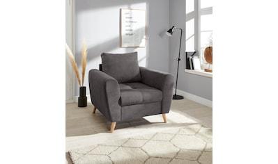 andas Sessel »Blackburn Luxus«, mit besonders hochwertiger Polsterung für bis zu 140 kg Belastbarkeit kaufen