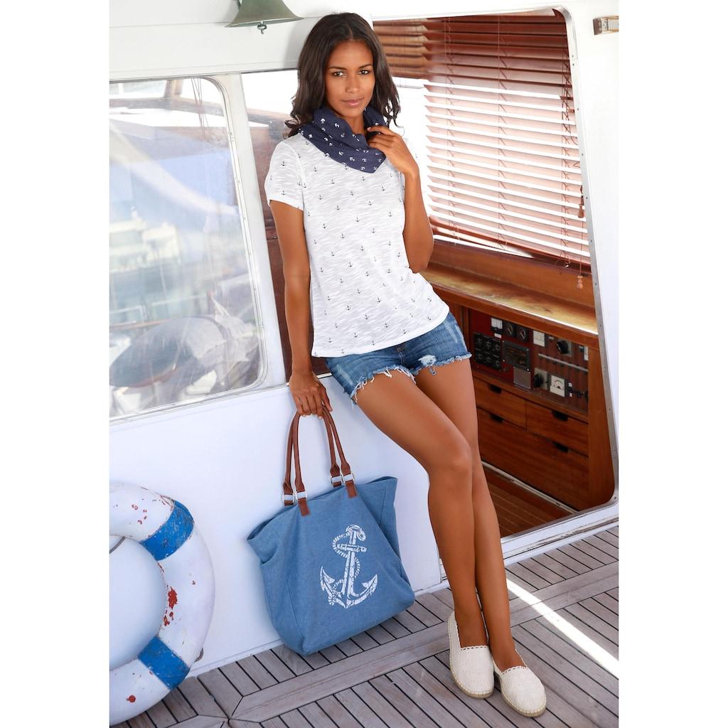 LASCANA Strandtasche, Shopper mit Anker