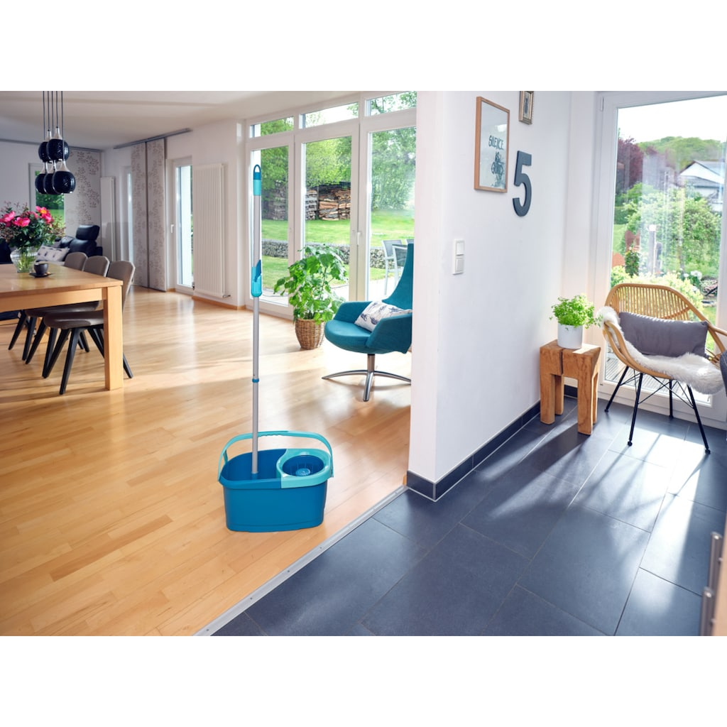 Leifheit Bodenwischer-Set »Set CLEAN TWIST Disc Mop Ergo«, 3-teilig, inkl. Eimer