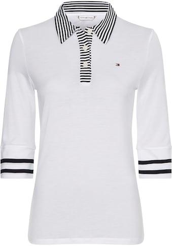 Tommy Hilfiger Poloshirt »REGULAR LYOCELL POLO 1/2 SLV«, mit Kontrastdetails im... kaufen