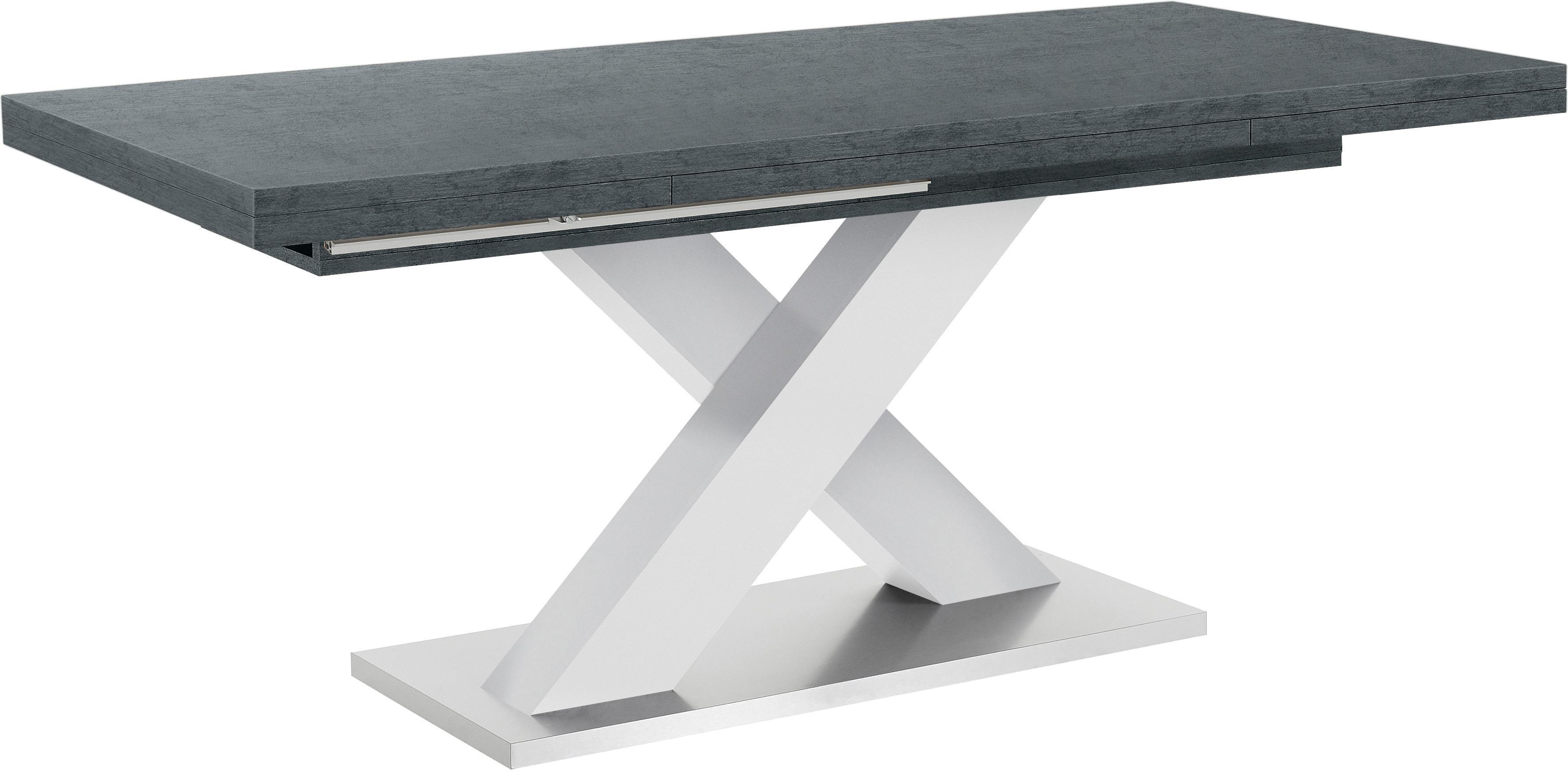 Mäusbacher Esstisch  Komfort C  mit X-Gestell in weiß und mit Auszugsfunktion, Breite 160- Preisvergleich