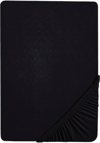 Biberna Spannbettlaken »Jette«, hochwertiges Jersey-Elasthan geeignet für Wasser- und Boxspringbetten kaufen