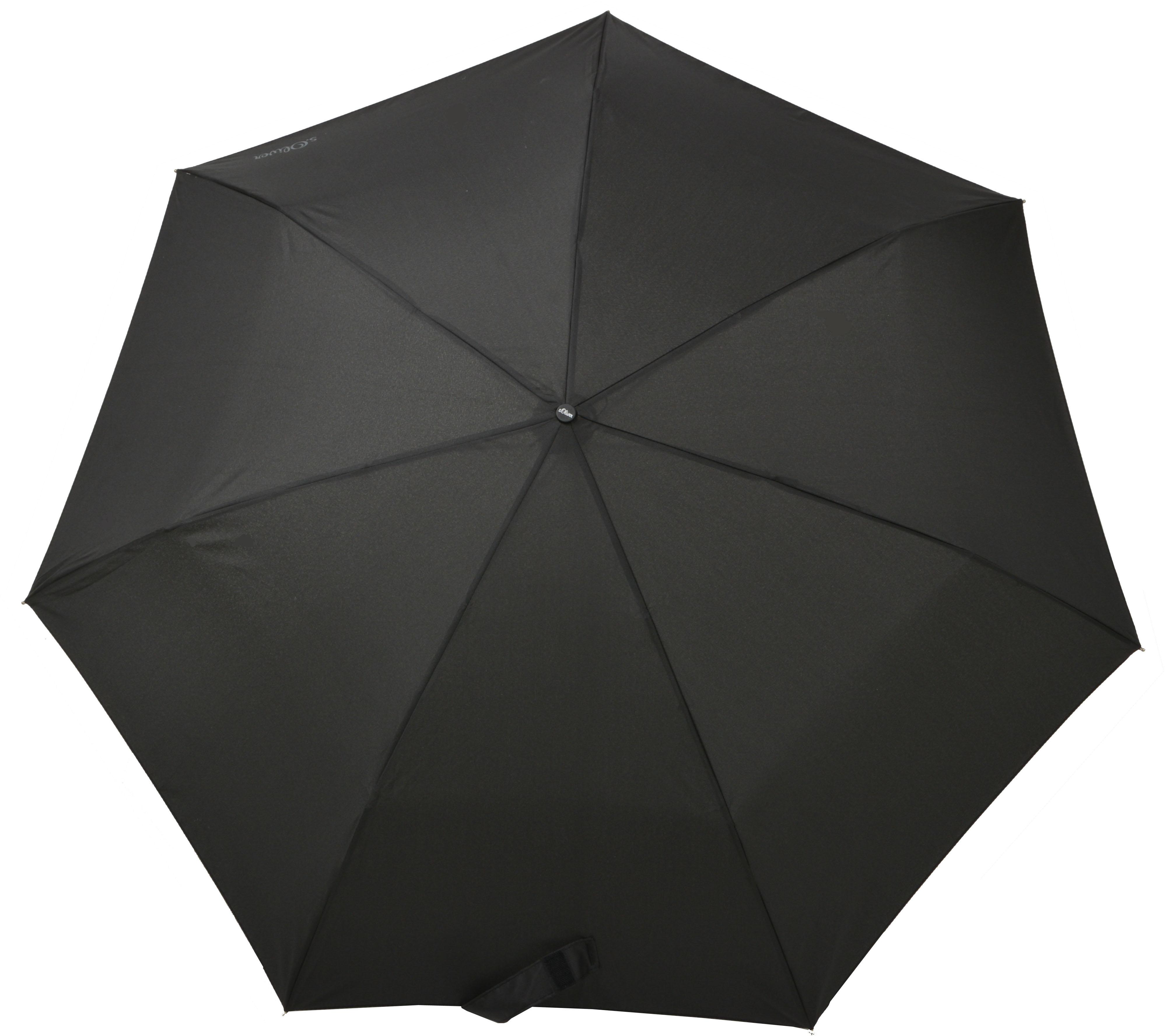 sOliver Taschenregenschirm ´´Duopop´´   Accessoires > Regenschirme > Sonstige Regenschirme   Schwarz   Polyester   S.Oliver