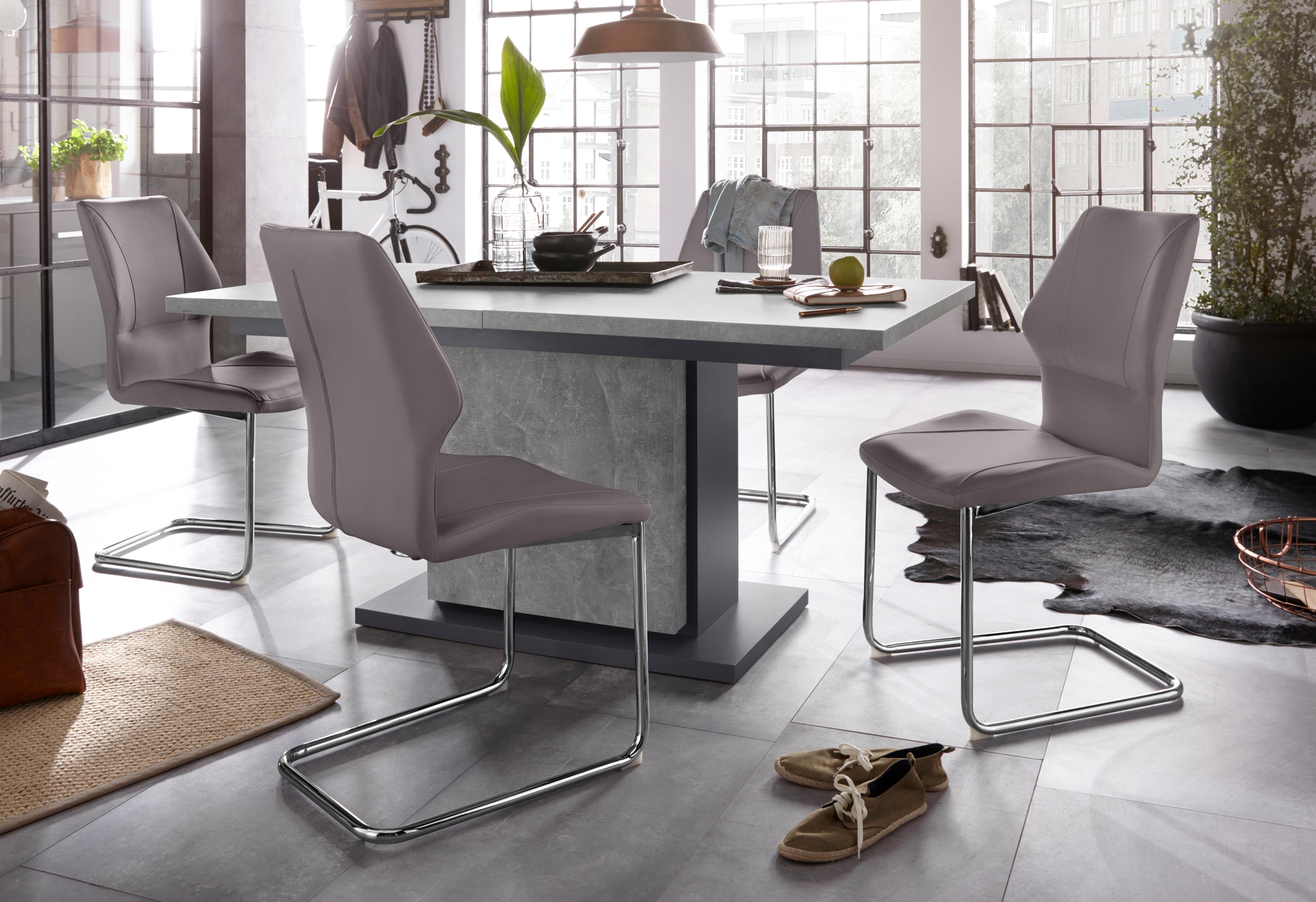 Homexperts Essgruppe Bärbel/Amelie Breite 140 cm mit Auszug und 4 Stühle