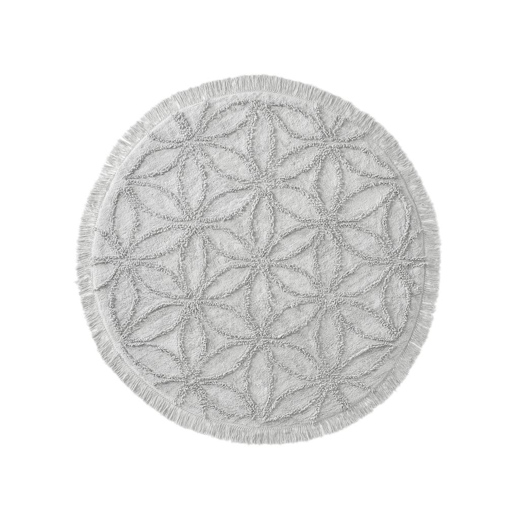 Teppich ODEN mit effektvoller Hoch-/Tiefstruktur aus Baumwolle