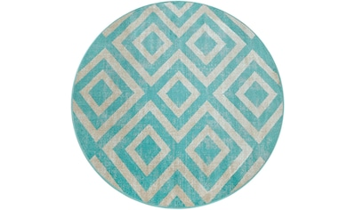 Paco Home Teppich »Poco 821«, rund, 7 mm Höhe, Rauten-Design, In- und Outdoor... kaufen
