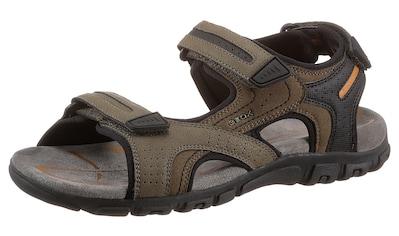 Geox Sandale »UOMO SANDAL STRADA«, mit Fersenriemchen als Klettverschluss kaufen