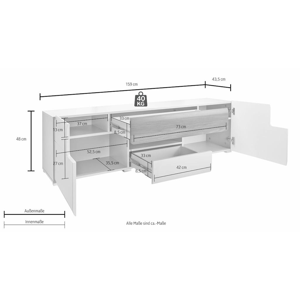 TRENDMANUFAKTUR Lowboard »Toledo«, Breite 159 cm