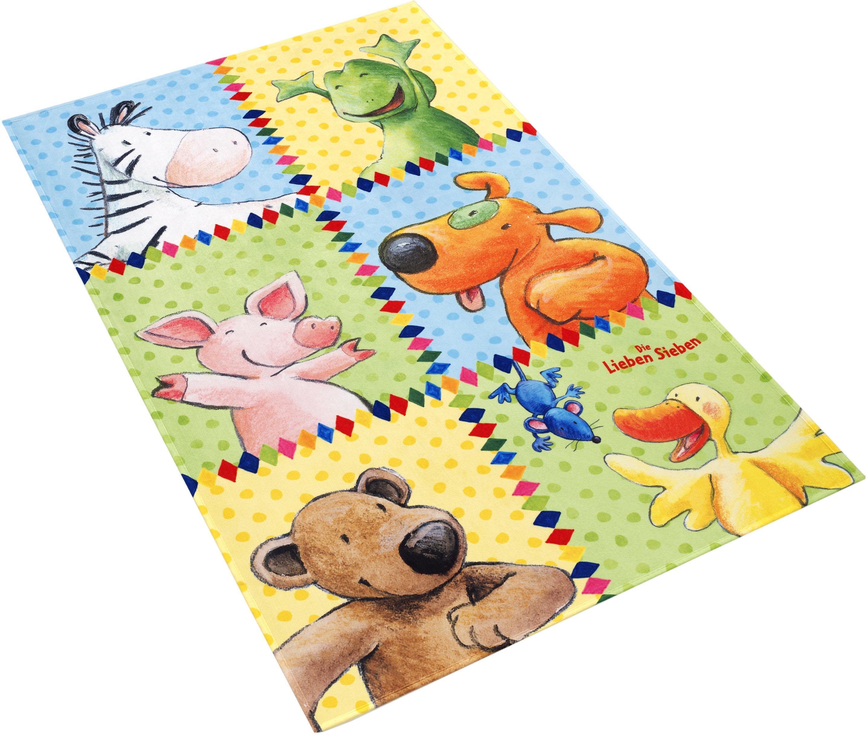 Kinderteppich LS-213 Die Lieben Sieben rechteckig Höhe 6 mm gedruckt