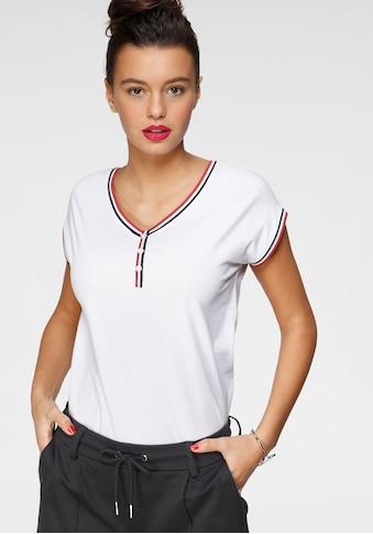 AJC Kurzarmshirt, mit Kontrast-Besatz und Kopfleiste kaufen