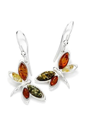OSTSEE - SCHMUCK Paar Ohrhänger » -  Schmetterling  -  Silber 925/000  -  Bernstein« kaufen
