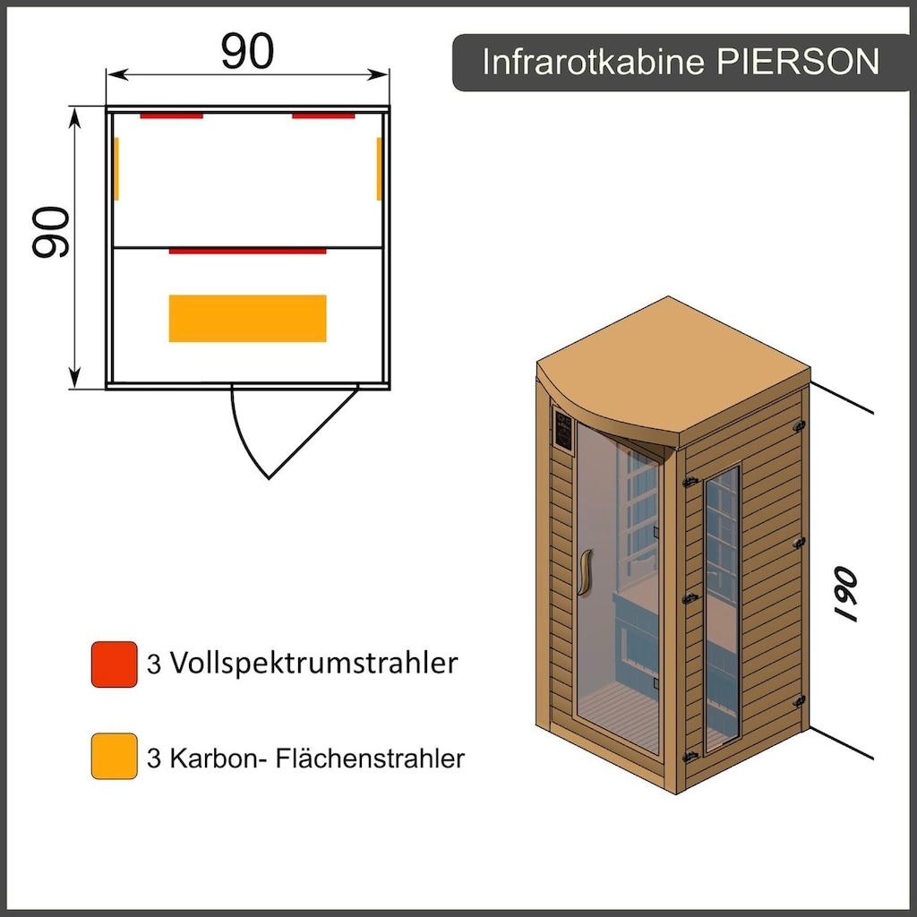 Dewello Infrarotkabine »Pierson Dual-Therm«, für 1 Person