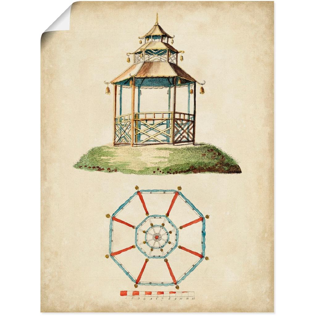 Artland Wandbild »Gartentore II«, Architektonische Elemente, (1 St.), in vielen Größen & Produktarten - Alubild / Outdoorbild für den Außenbereich, Leinwandbild, Poster, Wandaufkleber / Wandtattoo auch für Badezimmer geeignet
