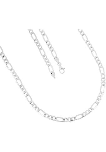 Firetti Silberkette »Figarokettengliederung, 5,2 mm breit, glanz, 6 - fach diamantiert« kaufen