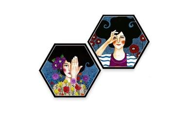 Wall-Art Mehrteilige Bilder »Hülya Augenblicke Set«, (Set, 3 St.) kaufen