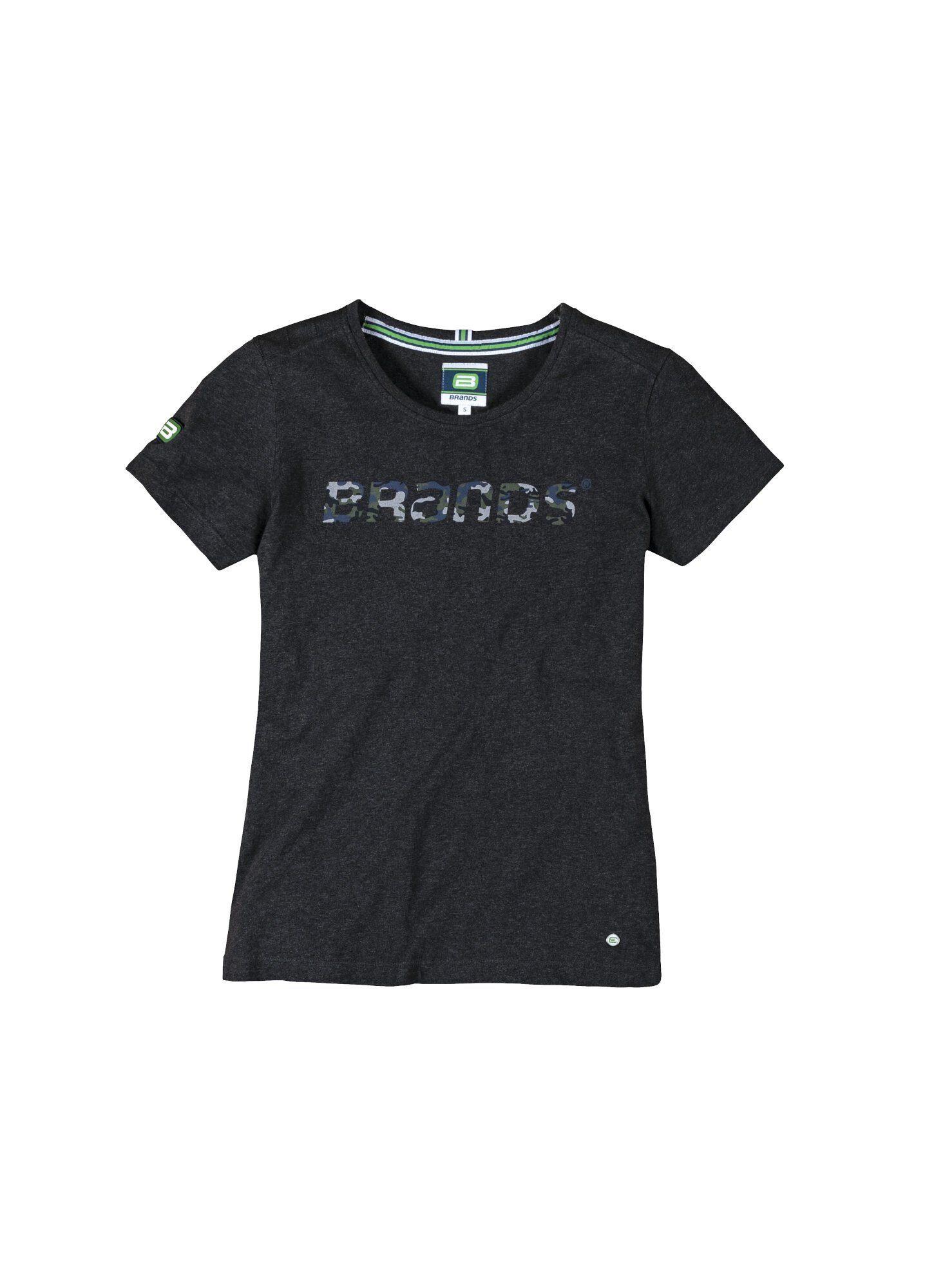 BRANDS Workwear T-Shirt Tarnmuster-Druck BRANDS Damen GOTS