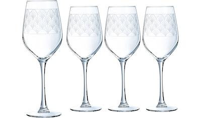 Luminarc Weinglas »Paradisio«, (Set, 4 tlg.), mit Pantographie-Optik, 4-teilig kaufen