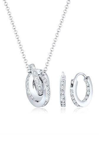 Elli Schmuckset »Geo Kreis Knoten Swarovski® Kristalle 925 Silber« kaufen